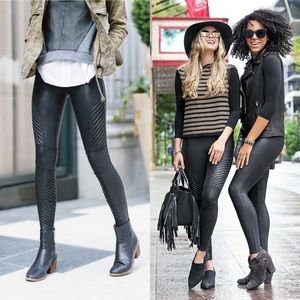 Spanx Leather Moto Leggings